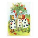 Rosas del país de las maravillas tarjetas postales