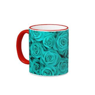 Rosas del Spectacular de la turquesa Taza De Café