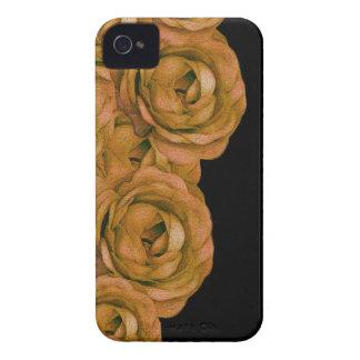 Rosas del tono de la tierra carcasa para iPhone 4 de Case-Mate