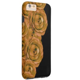 Rosas del tono de la tierra funda resistente iPhone 6 plus