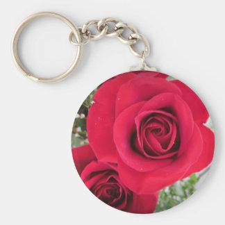 Rosas del verano llavero redondo tipo pin