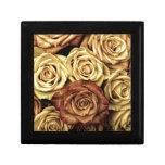 rosas del vintage caja de recuerdo