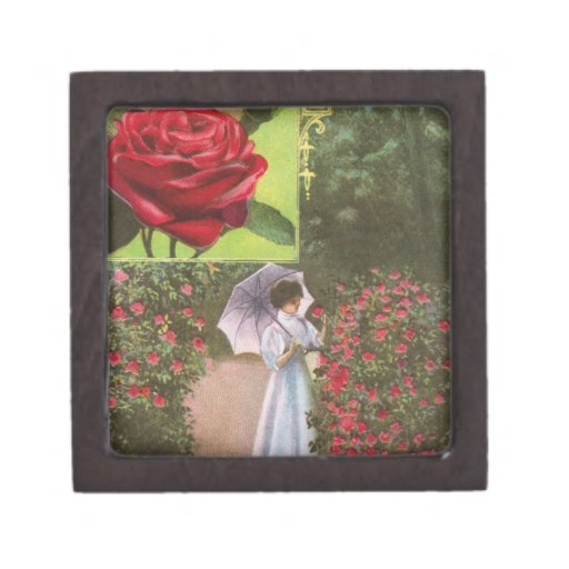 Rosas del vintage cajas de regalo de calidad