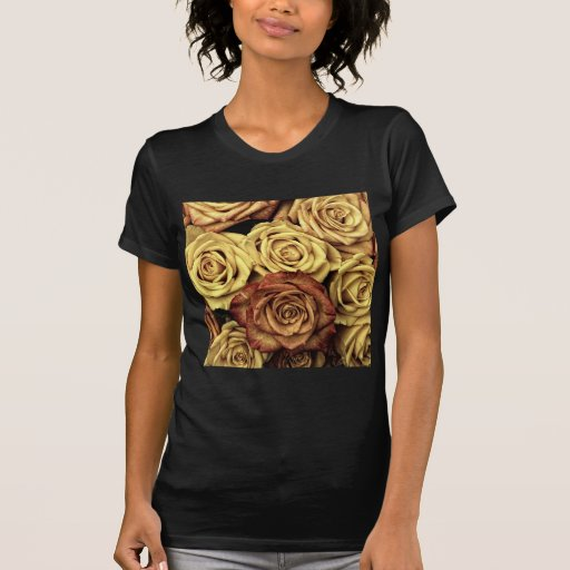 Rosas del vintage camisetas