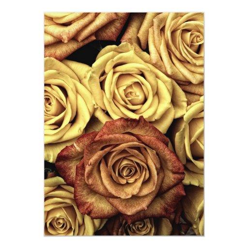 Rosas del vintage comunicados personalizados
