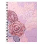 Rosas del vintage, cuaderno