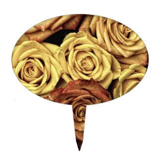 Rosas del vintage decoración para tarta