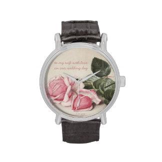 Rosas del vintage - ejemplo - reloj adaptable
