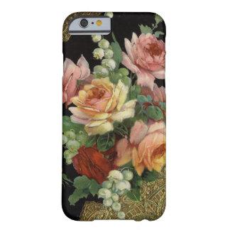 Rosas del vintage funda para iPhone 6 barely there