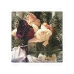 Rosas del vintage impresiones en lona