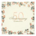Rosas del vintage - invitación del aniversario de