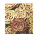 rosas del vintage libreta para notas