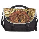 Rosas del vintage para su color de rosa bolsa de ordenador