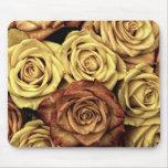 Rosas del vintage para su color de rosa alfombrillas de raton