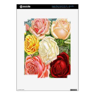 Rosas del vintage pegatinas skins para iPad 3