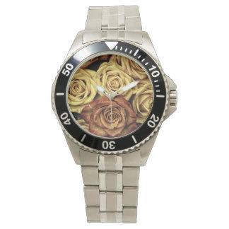 Rosas del vintage reloj de mano
