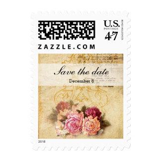 Rosas del vintage sello postal