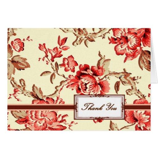 Rosas del vintage tarjeta