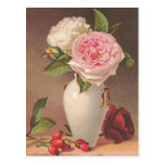 Rosas del vintage tarjeta postal