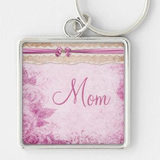 Rosas del vintage y llavero rosados de la mamá de