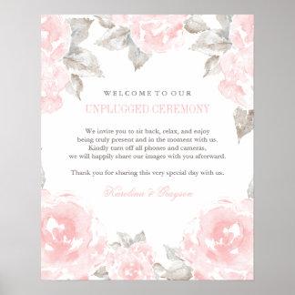 Rosas desenchufados de la acuarela del poster el |