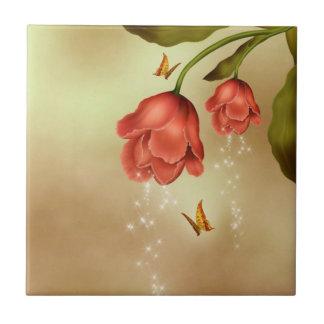 Rosas el chispear azulejo
