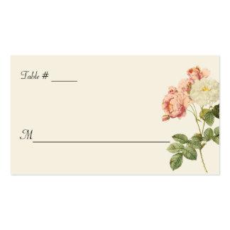 Rosas elegantes de la cabaña que casan la tarjeta  plantilla de tarjeta de visita