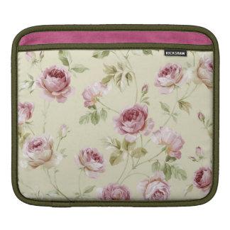 Rosas elegantes del rosa del vintage mangas de iPad