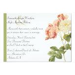 Rosas elegantes del vintage que casan la comunicado
