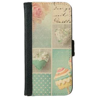 rosas elegantes lamentables del collage del rosa carcasa de iPhone 6