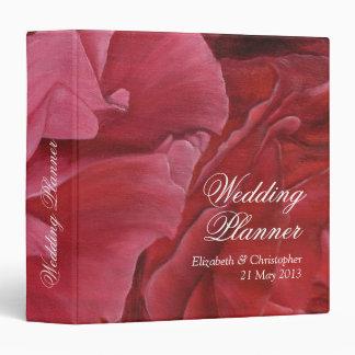 Rosas elegantes que casan carpetas de anillo del p