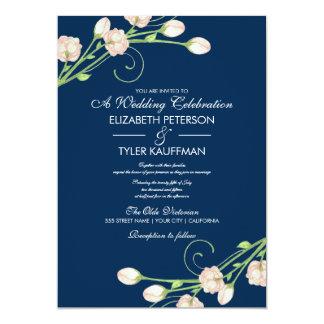 """Rosas en azul - invitaciones del jardín del invitación 5"""" x 7"""""""