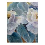 Rosas en azul postal