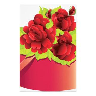 Rosas en caja de regalo papelería