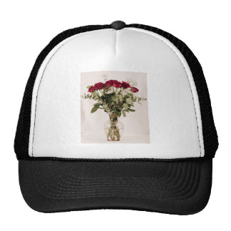 """""""Rosas en colección del florero claro"""" Gorros"""