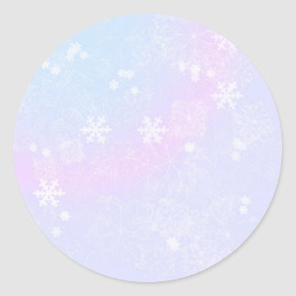 Rosas en colores pastel del navidad pegatina redonda