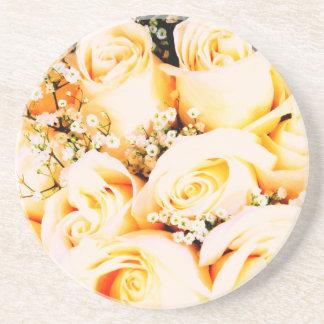 Rosas en colores pastel florales posavasos manualidades