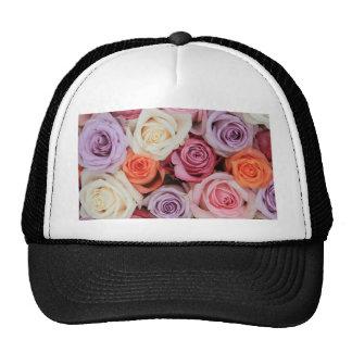 Rosas en colores pastel mezclados por Therosegarde Gorra