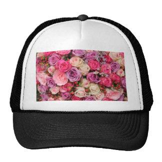 Rosas en colores pastel mezclados por Therosegarde Gorras