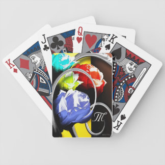 Rosas en extracto baraja cartas de poker