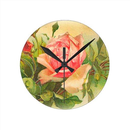 Rosas en la floración relojes