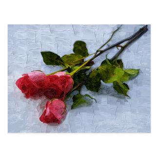Rosas en la nieve tarjetas postales