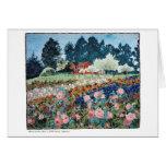 Rosas en la tarjeta de la granja