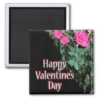 Rosas en negro imán para frigorífico
