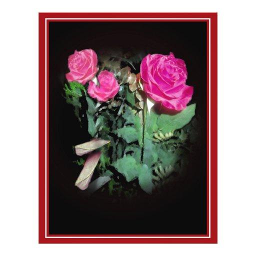 Rosas en negro tarjeta publicitaria