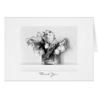 Rosas en negro y blanco tarjeta pequeña
