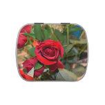 rosas en ramo jarrones de dulces