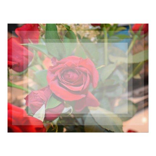rosas en ramo membrete personalizado