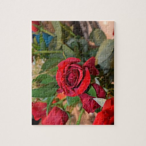 rosas en ramo rompecabezas