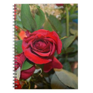 rosas en ramo spiral notebook
